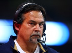 ST LOUIS, MO - DECEMBER 11:  Head coach Jeff Fisher of the St. Louis Rams looks on against the Arizona Cardinals during their game at Edward Jones Dome on December 11, 2014 in St Louis, Missouri.  (Photo by Dilip Vishwanat/Getty Images)