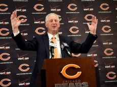 LAKE FOREST, IL- JANUARY 19: The Chicago Bears new head coach John Fox speaks to the media during his introduction press conference on January 19, 2015 at Halas Hall in Lake Forest, Illinois.  (Photo by David Banks/Getty Images)