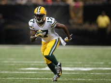 NEW ORLEANS, LA - OCTOBER 26:  Davante Adams #17 of the Green Bay Packers against the New Orleans Saints at Mercedes-Benz Superdome on October 26, 2014 in New Orleans, Louisiana.  (Photo by Chris Graythen/Getty Images)