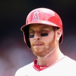 ANAHEIM, CA - JULY 27:  Josh Hamilton #32 of the Los Angeles Angels of Anaheim looks on against the Detroit Tigers at Angel Stadium of Anaheim on July 27, 2014 in Anaheim, California.  (Photo by Jeff Gross/Getty Images)
