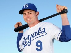 SURPRISE, AZ - FEBRUARY 24:  Johnny Giavotella #9 of the Kansas City Royals poses for a portrait during spring training photo day at Surprise Stadium on February 24, 2014 in Surprise, Arizona.  (Photo by Christian Petersen/Getty Images)