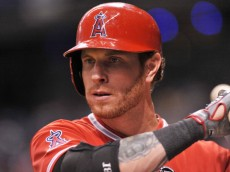 ST. PETERSBURG, FL - AUGUST 28:  Outfielder Josh Hamilton #32 of the Los Angeles Angels of Anaheim sets to bat against the Tampa Bay Rays August 28, 2013 at Tropicana Field in St. Petersburg, Florida. (Photo by Al Messerschmidt/Getty Images)