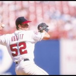 10 Sep 1995:  Pitcher Jim Abbott of the California Angels throws a pitch during a game against the Minnesota Twins at Anaheim Stadium in Anaheim, California.  The Twins won the game 9-8. Mandatory Credit: J.D. Cuban  /Allsport