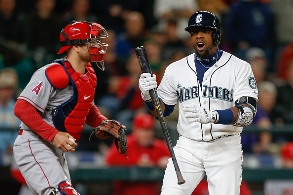 SEATTLE, WA - APRIL 08:  Rickie Weeks #25 of the Seattle Mariners reacts after striking out in the eighth inning against the Los Angeles Angels of Anaheim at Safeco Field on April 8, 2015 in Seattle, Washington. The Angels defeated the Mariners 5-3.  (Photo by Otto Greule Jr/Getty Images)