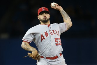 TORONTO, CANADA - MAY 19: Hector Santiago #53 of the Los Angeles Angels of Anaheim delivers a pitch in the first inning during MLB game action against the Toronto Blue Jays on May 19, 2015 at Rogers Centre in Toronto, Ontario, Canada. (Photo by Tom Szczerbowski/Getty Images)