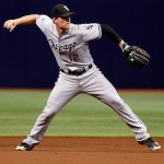 ST. PETERSBURG, FL - SEPTEMBER 20:  Third baseman Conor Gillaspie #12 of the Chicago White Sox fields the ground out by Ben Zobrist of the Tampa Bay Rays during the first inning of a game on September 20, 2014 at Tropicana Field in St. Petersburg, Florida.  (Photo by Brian Blanco/Getty Images)
