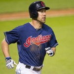 CLEVELAND, OH - MAY 20:  David Murphy #7 of the Cleveland Indians rounds the bases after hitting a solo home run during the seventh inning against the Detroit Tigers at Progressive Field on May 20, 2014 in Cleveland, Ohio.(Photo by Jason Miller/Getty Images)