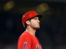 NEW YORK, NY - JUNE 6: David Freese #6 of the Los Angeles Angels of Anaheim reacts after grounding out against the New York Yankees during the eighth inning at Yankee Stadium on June 6, 2015 in the Bronx borough of New York City. (Photo by Adam Hunger/Getty Images)