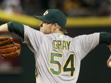 PHOENIX, AZ - AUGUST 28:  Starting pitcher Sonny Gray #54 of the Oakland Athletics throws against the Arizona Diamondbacks during the third inning of a MLB game at Chase Field on August 28, 2015 in Phoenix, Arizona. The Diamondbacks defeated the Athletics 6-4.  (Photo by Ralph Freso/Getty Images)