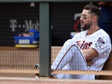 MINNEAPOLIS, MN - APRIL 14: Trevor Plouffe #24 of the Minnesota Twins sits in the dugout after a loss of the game against the Chicago White Sox on April 14, 2016 at Target Field in Minneapolis, Minnesota. The White Sox defeated the Twins 3-1. (Photo by Hannah Foslien/Getty Images)