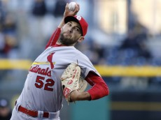PITTSBURGH, PA - APRIL 05:  Michael Wacha #52 of the St. Louis Cardinals pitches in the first inning during the game against the Pittsburgh Pirates at PNC Park on April 5, 2016 in Pittsburgh, Pennsylvania. (Photo by Justin K. Aller/Getty Images)