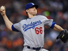SAN FRANCISCO, CALIFORNIA - APRIL 08:  Ross Stripling #68 of the Los Angeles Dodgers pitches against the San Francisco Giants in the bottom of the first inning at AT&T Park on April 8, 2016 in San Francisco, California.  (Photo by Thearon W. Henderson/Getty Images)