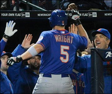 David Wright high fives