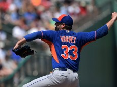 FORT MYERS, FL - MARCH 16:  Matt Harvey #33 of the New York Mets throws a pitch during the third inning of a spring training game against the Boston Red Sox at JetBlue Park at Fenway South on March 16, 2015 in Fort Myers, Florida.  (Photo by Stacy Revere/Getty Images)