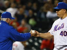 during their game at Citi Field on May 20, 2015 in New York City.