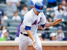 NEW YORK, NY - JUNE 28:  Steven Matz #32 of the New York Mets reacts after hitting a sixth inning two run base hit during his major league debut against the Cincinnati Reds at Citi Field on June 28, 2015 in the Flushing neighborhood of the Queens borough of New York City.  (Photo by Jim McIsaac/Getty Images)