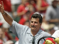 Former player Keith Hernandez of the St. Louis Cardinals made an appearance during a Cardinals game against the Houston Astros at Busch Stadium in St. Louis, Mo. on July 17, 2005.  St. Louis won 3-0. (Photo by G. N. Lowrance/Getty Images)
