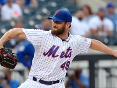NEW YORK, NY - JUNE 30:  Pitcher Jonathon Niese #49 of the New York Mets pitches in the first inning against the Chicago Cubs on June 30, 2015 at Citi Field in the Flushing neighborhood of the Queens borough of New York City. (Photo by Nate Shron/Getty Images)