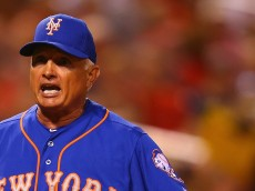 ST. LOUIS, MO - JULY 17: Manager Terry Collins #10 of the New York Mets argues with the home plate umpire after getting ejected against the St. Louis Cardinals in the seventh inning at Busch Stadium on July 17, 2015 in St. Louis, Missouri.  (Photo by Dilip Vishwanat/Getty Images)