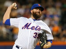 NEW YORK, NY - JUNE 30:  Bobby Parnell #39 of the New York Mets pitches in the eighth inning against the Chicago Cubs on June 30, 2015 at Citi Field in the Flushing Neighborhood of the Queens borough of New York City.  (Photo by Nate Shron/Getty Images)