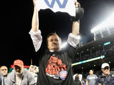 CHICAGO, IL - OCTOBER 13:  Tom Ricketts, owner of the Chicago Cubs, celebrates after the Chicago Cubs defeat the St. Louis Cardinals in game four of the National League Division Series to win the NLDS 3-1 at Wrigley Field on October 13, 2015 in Chicago, Illinois. The Chicago Cubs defeat the St. Louis Cardinals with a score of 6 to 4.  (Photo by David Banks/Getty Images)