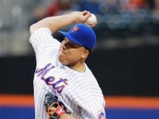 NEW YORK, NY - MAY 18:  Bartolo Colon #40 of the New York Mets pitches against the Washington Nationals during their game at Citi Field on May 18, 2016 in New York City.  (Photo by Al Bello/Getty Images)