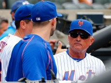NEW YORK, NY - AUGUST 11:  Manager Terry Collins #10 of the New York Mets talks with David Wright #5 during a game against the Arizona Diamondbacks at Citi Field on August 11, 2016 in the Flushing neighborhood of the Queens borough of New York City.  (Photo by Jim McIsaac/Getty Images)