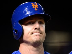 PHOENIX, AZ - AUGUST 17:  Jay Bruce #19 of the New York Mets reacts in the on deck circle during the game against the Arizona Diamondbacks at Chase Field on August 17, 2016 in Phoenix, Arizona.  (Photo by Jennifer Stewart/Getty Images)