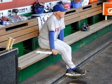 WASHINGTON, DC - SEPTEMBER 14: Manager Terry Collins #10 of the New York Mets sits in the dugout before the game against the Washington Nationals at Nationals Park on September 14, 2016 in Washington, DC.  (Photo by Greg Fiume/Getty Images)