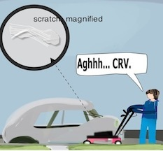 LawnMowingcar incidentscratch