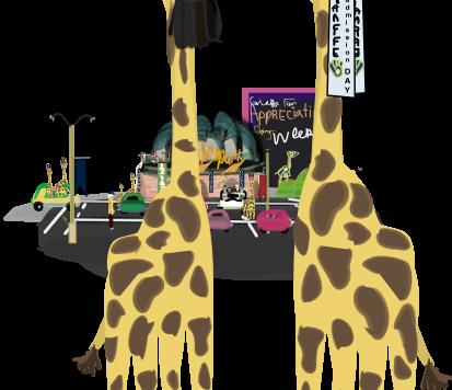 thebrewersbar - giraffes in attendance promotion