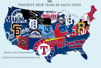 Source: http://www.reddit.com/r/baseball/comments/2ducbg/here_is_the_map_of_the_favorite_mlb_teams_in_each/cjt9pbf