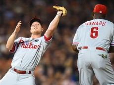Cody Asche, Phillies third baseman.