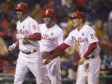 Jeff Francoeuer homers vs. Red Sox. April 8, 2015.