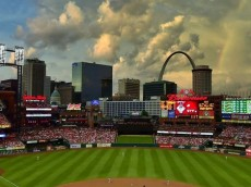 CLOUDS BUSCH STADIUM