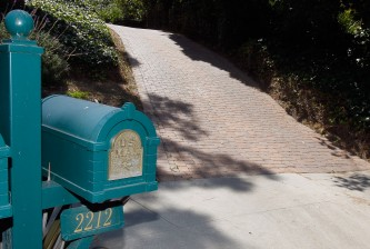 RANCHO PALOS VERDES, CA - JULY 28:  The mailbox and driveway leading up to the home where former Major League Baseball pitcher Hideki Irabu was found dead yesterday after an apparent suicide are seen on July 28, 2011 in Rancho Palos Verdes, California.  (Photo by Jeff Gross/Getty Images)