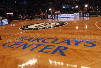 NEW YORK, NY - NOVEMBER 23:  Center court sports the Brooklyn Nets logo prior to the game against the Los Angeles Clippers at the Barclays Center on November 23, 2012 in the Brooklyn borough of New York City. NOTE TO USER: User expressly acknowledges and agrees that, by downloading and/or using this photograph, user is consenting to the terms and conditions of the Getty Images License Agreement.  (Photo by Bruce Bennett/Getty Images)