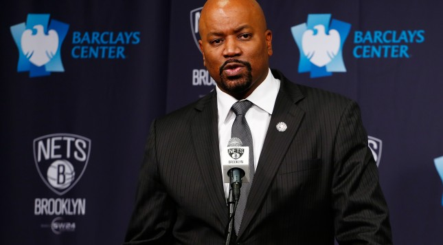 NEW YORK, NY - NOVEMBER 06: Brooklyn Nets General Manager Billy King speaks to the media during a press conference to anounce the Brooklyn Nets D-League team the Long Island Nets will play at the renovated Nassau Coliseum for the 2017-18 season at the Barclays Center on November 6, 2015 in Brooklyn borough of New York City.  (Photo by Mike Stobe/Getty Images)