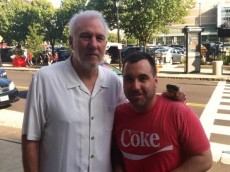 Brendan Bowers and Gregg Popovich