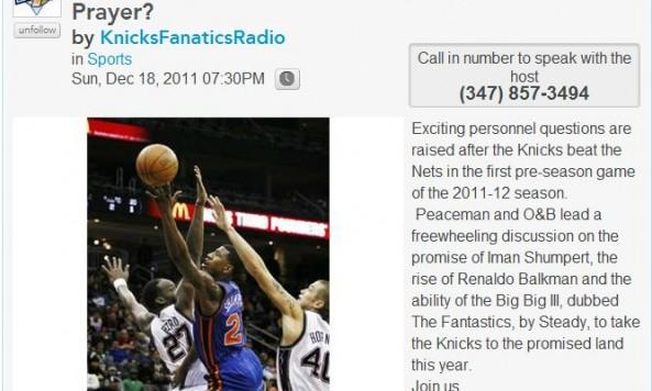 Knicks Fanaitcs Radio (ep28) Shumpert