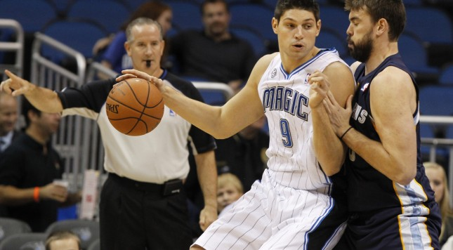 Nikola Vucevic is the first player to get a significant commitment from the Magic. Photo by Kim Klement-USA TODAY Sports