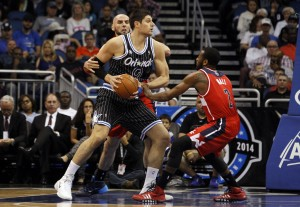 Nikola Vucevic was on everyone's radar last season. Defenses know to stop the Magic, you must stop him. Photo by Kim Klement-USA TODAY Sports
