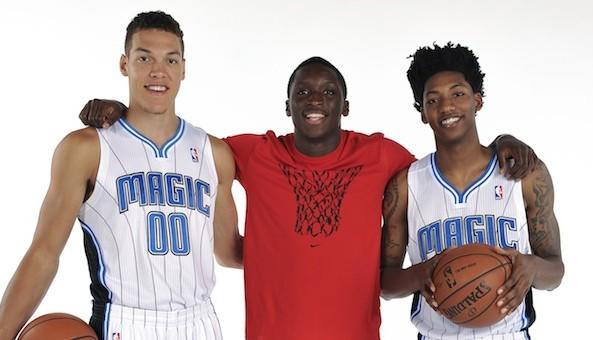 Orlando Magic Introduce Their 2014 NBA Draft Picks Aaron Gordon, Elfrid Payton and Roy Devyn Marble