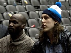 Boston Celtics' Joel Anthony & Kelly Olynyk