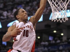 DeRozan throws down on Plumlee - Round 1, Game 2  (Photo credit: NBAE/Getty Images)