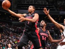Toronto Raptors' Kyle Lowry  (Raptors @ Nets – Game 3 – NBAE/Getty Images)