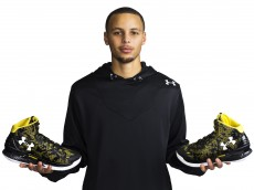 Stephen Curry and his Under Armour signature shoes 'Curry One'
