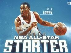 Kyle Lowry, Toronto Raptors: NBA All-Star Starting Guard, NBA Eastern Conference, 2016