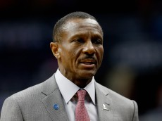 WASHINGTON, DC - JANUARY 08:  Head coach Dwane Casey of the Toronto Raptors looks on in the first half against the Washington Wizards at Verizon Center on January 8, 2016 in Washington, DC. NOTE TO USER: User expressly acknowledges and agrees that, by downloading and or using this photograph, User is consenting to the terms and conditions of the Getty Images License Agreement.  (Photo by Rob Carr/Getty Images)