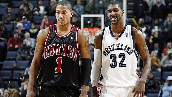 Derrick Rose and OJ Mayo